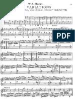 Mozart - Variazioni K265