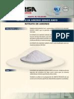 Nitrato de Amonio Grado ANFO
