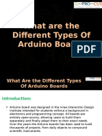 What Are the Different Types of Arduino Boards