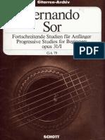 Fernando Sor - Studi Op. 31_I_Schott.pdf