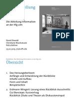 Buchpräsentation Abteilung Information der HfG Ulm