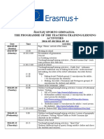 the programme of ltta in lithuania
