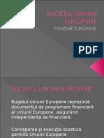 bugetul fondurilor europene