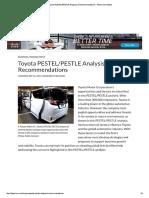 Toyota PESTEL_PESTLE Analysis & Recommendations - Panmore Institute