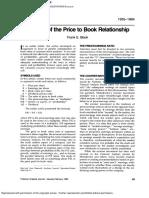 Price to Book Study