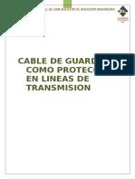 Cables-De-guarda Como Preteccion en Lineas de Transmision(Trabajo)