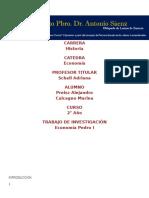 Pedro El Grande Economía