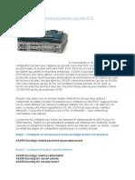 CISCO ASA Tutoriel Configuration de Base Du Pare
