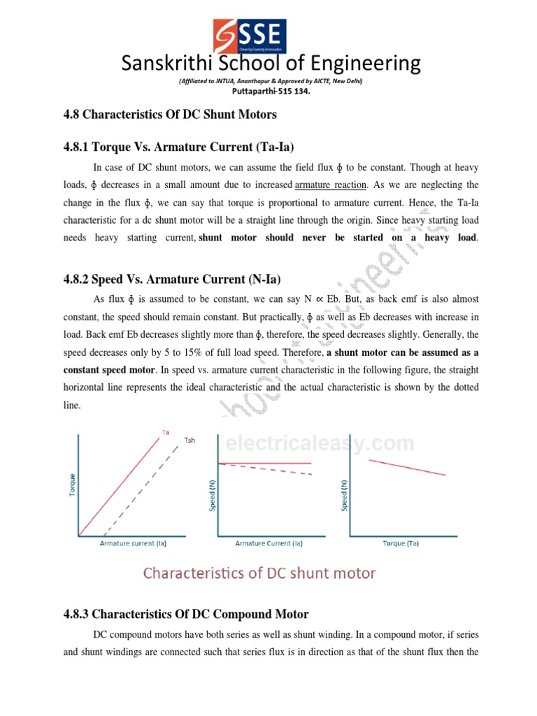 Characteristics of DC Shunt Compound Motor.pdf   Electrodynamics ...