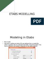 Etabs Modelling Procedure