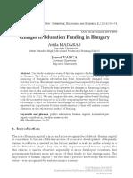 [Acta Universitatis Sapientiae, Economics and Business] Changes in Education Funding in Hungary