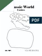 Jurassic World Stencil