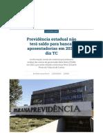 Previdência estadual não terá saldo para bancar aposentadorias em 2037, diz TC _ Vida Pública _ Gazeta do Povo.pdf