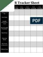 PR Sheet