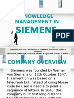 Knowledge Management in Siemens - Presentation