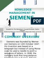 Knowledge Management in Siemens - Presentation