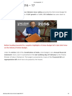 Union Budget 2016 - 17