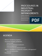 Procedures in Industrial Property Infringements - Presentation