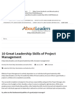 10 Great Leadership Skills of Project Management _ AboutLeaders