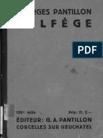 SOLFEGE - PANTILLON