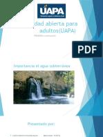 Importancia Del Agua Subteranea