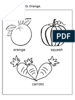 Color the Objects Orange