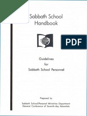 sabbath-school-handbook pdf | Adventism | Seventh Day