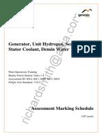 Test Paper - Marking Schedule