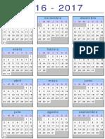 Calendario 2016 2017.Xls