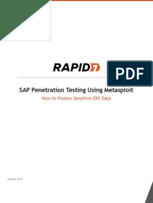 SAP Penetration Testing Using Metasploit Final pdf