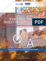 Evidence Based Investor Conference Interviews