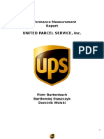 United Parcel Service UPS - Performance Measurement Report