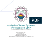 Analysis of Power Systems Protection on ETAP