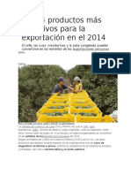 Los 14 Productos Más Atractivos Para La Exportación en El 2014