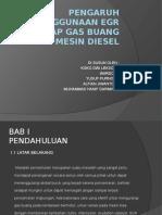Pengaruh Penggunaan Egr Terhadap Gas Buang Pada Mesin