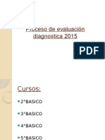 evaluación diagnostica 2015