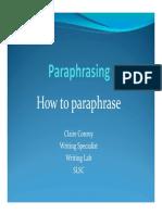 Paraphrasing Cc1 Latest