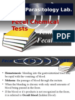 10 Chemical Tests Fecal Occult Blood