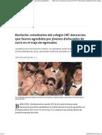 Bariloche_ Estudiantes Del Colegio ORT Denuncian Que Fueron Agredidos Por Jóvenes Disfrazados de Nazis en El Viaje de Egresados - 25.08.2016 - LA NACION