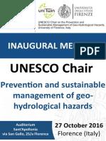 UNESCO Chair Inaugural Meeting Finale 27102016
