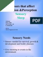 Lect18 Sensory & Sleep