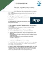 1 Aplicación de Examen Diagnostico Materia y Energía