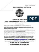 Monterey Bay Blues Festival 2010 PressRelease
