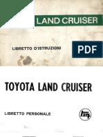 Land Cruiser serie 4 Libretto Istruzioni Proprietario Italiano