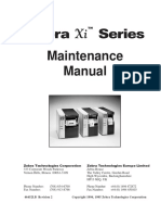 Zebra Xi Series Maintenance Manual for 105s-140xi