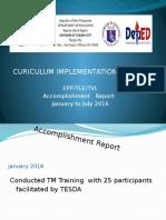 Accomplishment Report in TLE