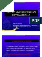 HACIA UNA MEJOR GESTIÓN de LAS Empresas en Chile Ppt Majluf