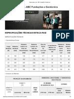 Tabela Estaca Raiz - ABC Fundações e Geotécnica