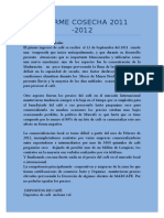 INFORME COSECHA 2012