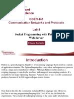 Coen445 Lab4 Socket Programming